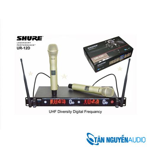 Micro Karaoke Không Dây Shure UR12D 4 Anten
